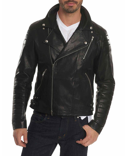 Colter Studded Leather Moto Jacket