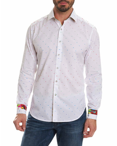 Limited Edition Dot-Print Sport Shirt