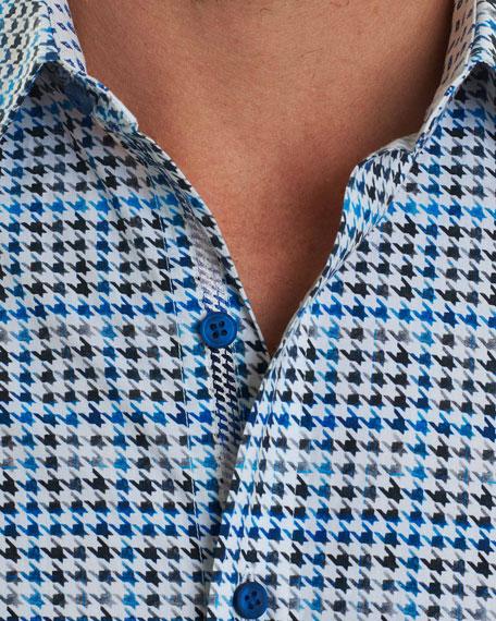 Rolf Houndstooth Sport Shirt
