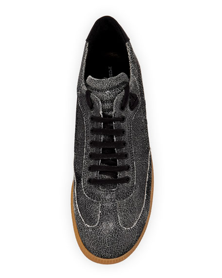 Otto Low-Rise Cracked Leather Sneaker