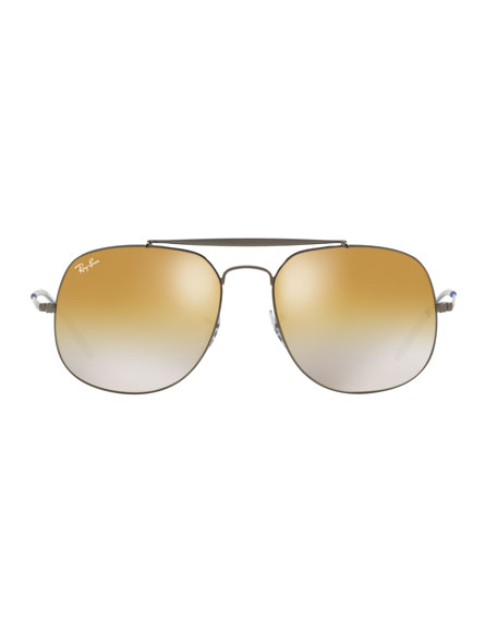 Ray-Ban The General Metal Mirror Aviator Sunglasses