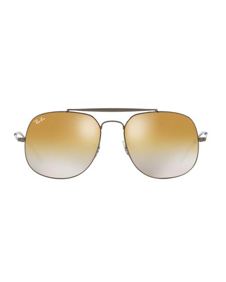 Ray-Ban The General Metal Mirror Aviator Sunglasses