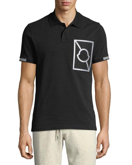 Moncler Maglia Reflective Cotton Polo Shirt