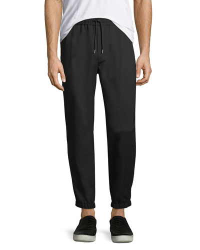 Tailored Wool-Blend Track Pants