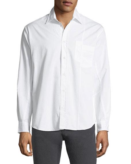 Mismatched-Pockets Sport Shirt