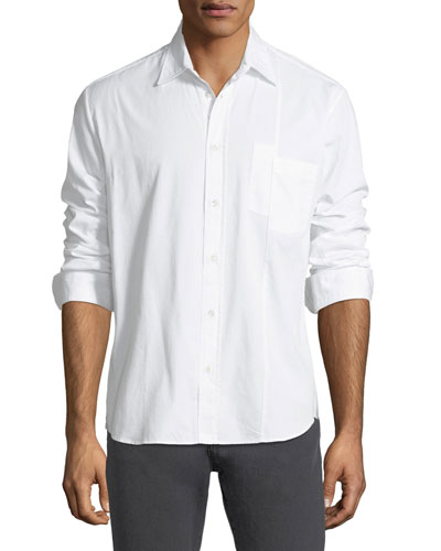 Mismatched-Pockets Sport Shirt