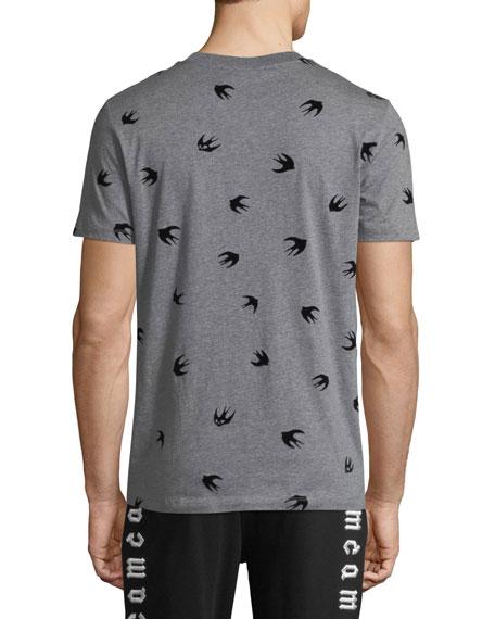 Sparrow-Print Crewneck T-Shirt