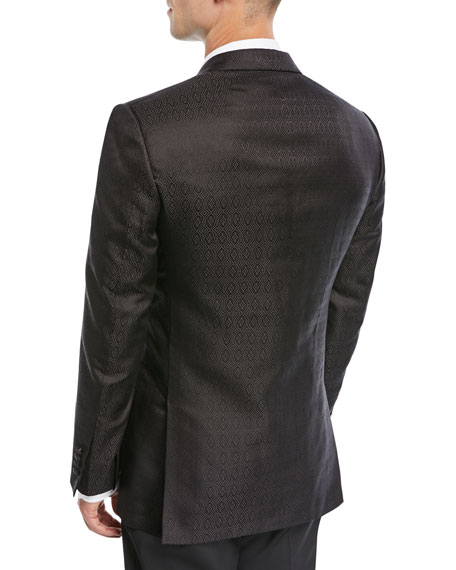Tonal Jacquard Silk Dinner Jacket