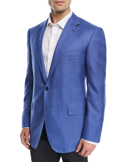 Cashmere Tonal Houndstooth Dinner Jacket