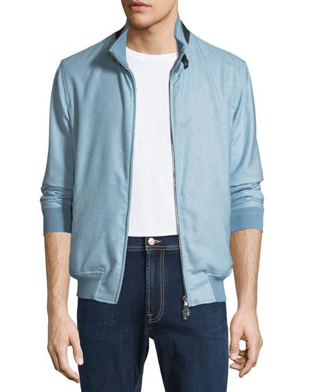 Cashmere-Blend Bomber Jacket