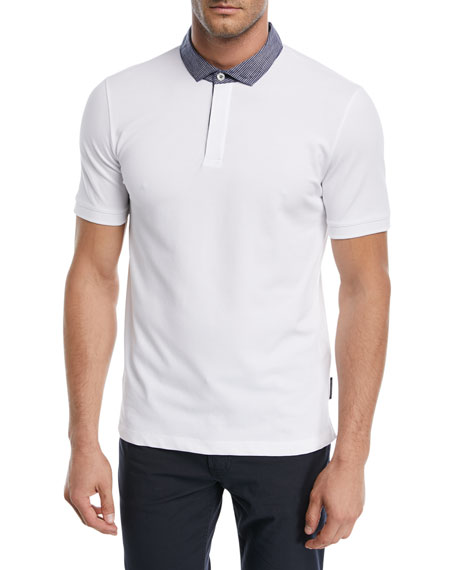 Emporio Armani Contrast-Collar Piqu?? Polo Shirt and Matching