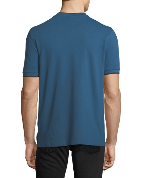 V-Neck T-Shirt w/ Contrast Piping