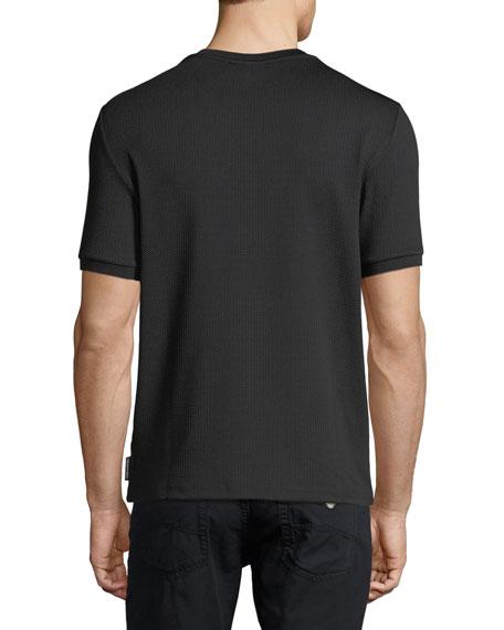 Textured Jacquard Crewneck Jersey T-Shirt