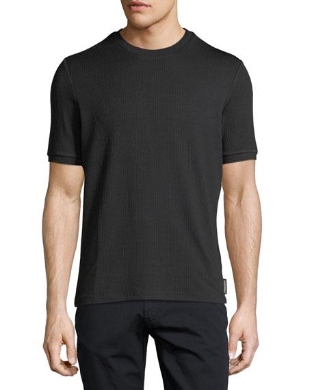 Emporio Armani Textured Jacquard Crewneck Jersey T-Shirt