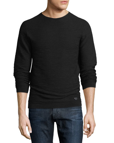 Wavy Jacquard Pullover Sweater