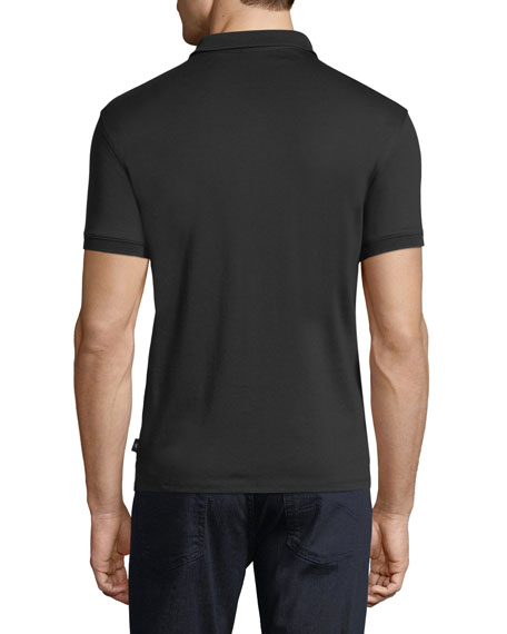 Basic Textured Polo Shirt