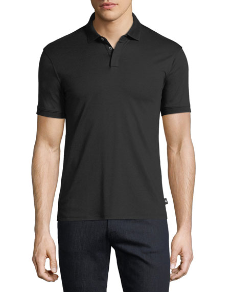 Emporio Armani Basic Textured Polo Shirt