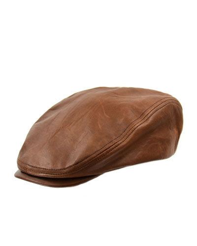 Leather Driver Hat