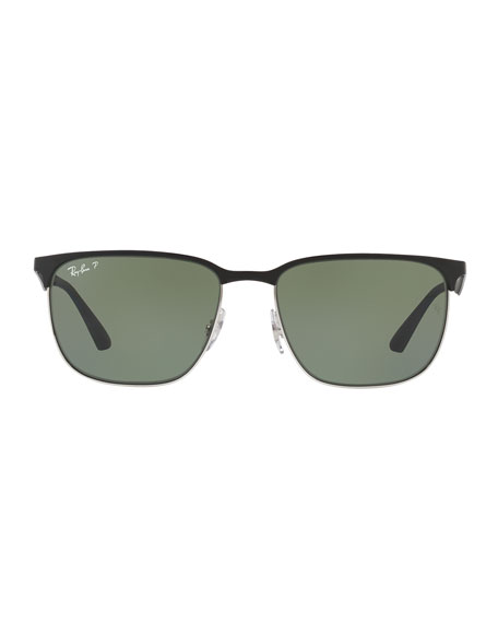 Half-Rim Metal Sunglasses
