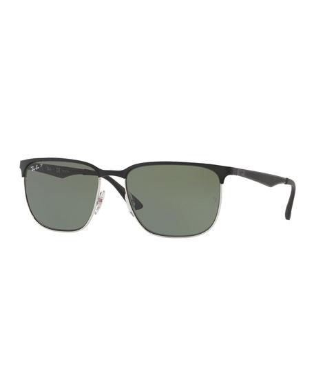 Ray-Ban Half-Rim Metal Sunglasses