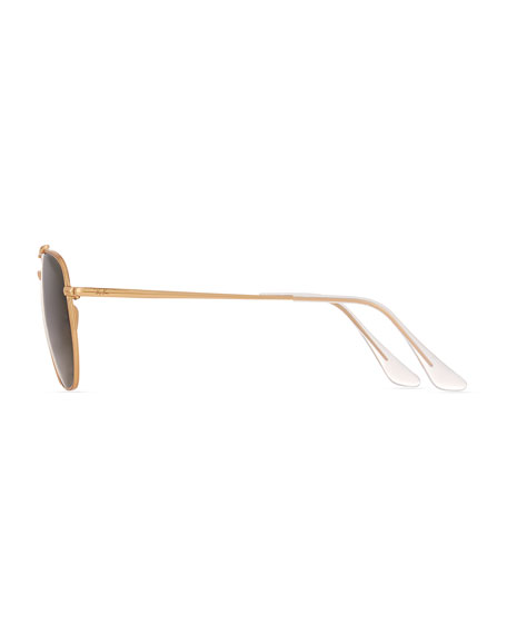 Rounded Square Metal Sunglasses