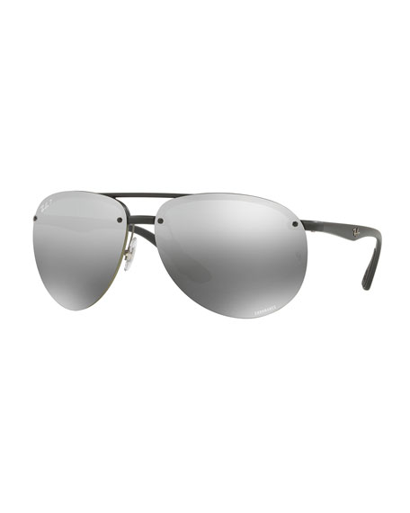 Ray-Ban Rimless Mirrored Polarized Sunglasses