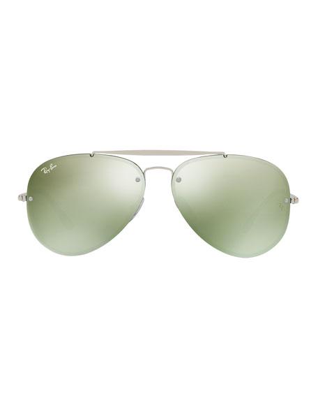 Ray-Ban Metal Mirrored Aviator Sunglasses
