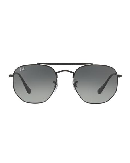 Ray-Ban Men's Square Double-Bridge Sunglasses, Black