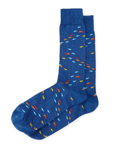 School of Fish Cotton Socks