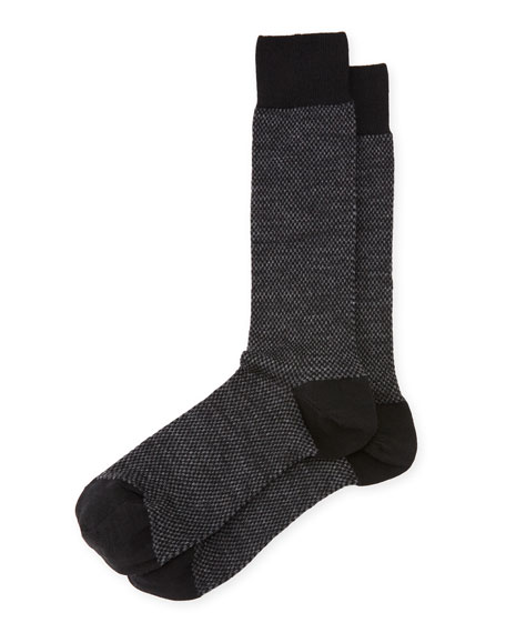 Neiman Marcus Mini Checkerboard Wool Socks