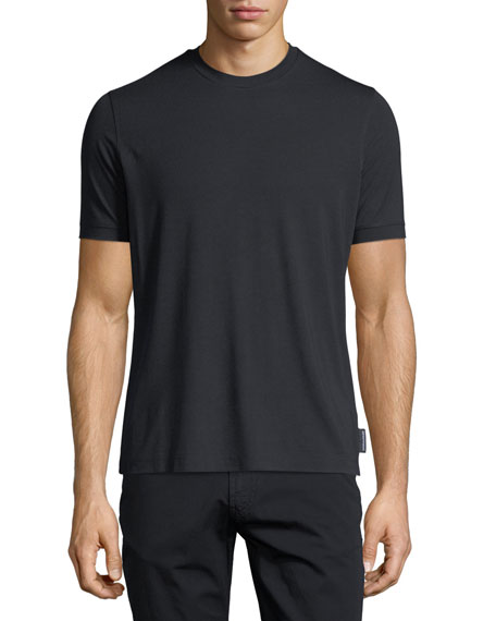 Basic Short-Sleeve Solid Crewneck T-Shirt