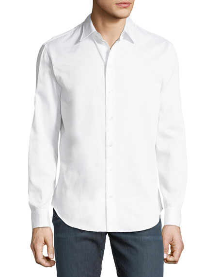 Tonal Pattern Cotton Sport Shirt