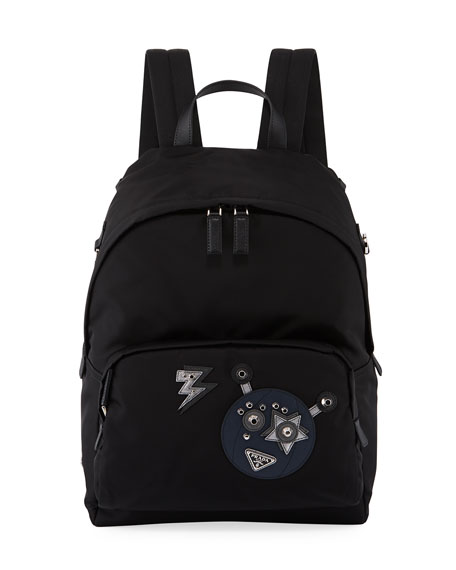 Prada Men's Nylon Robot Backpack