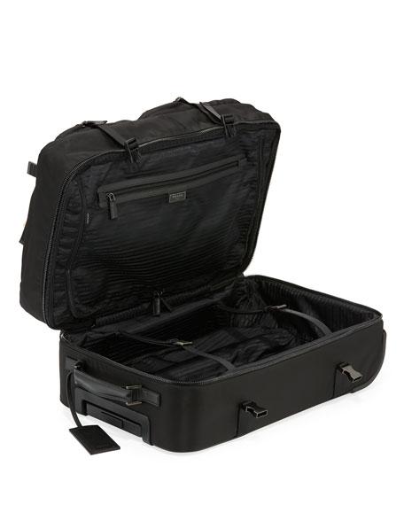 Tessuto-Trim Nylon Trolley Suitcase Luggage