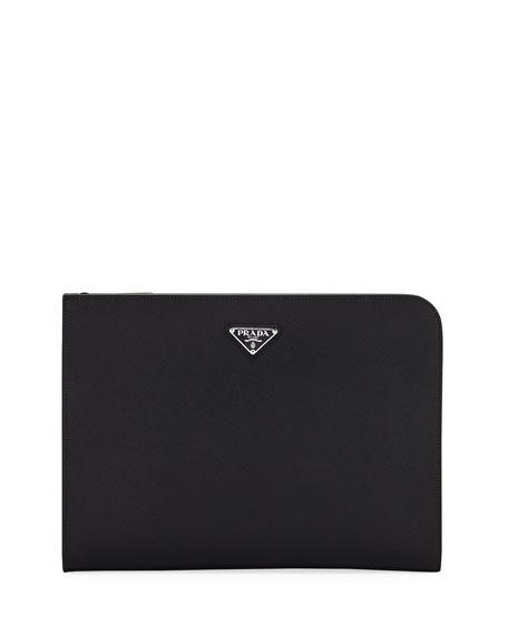 Prada Saffiano Leather Portfolio Case