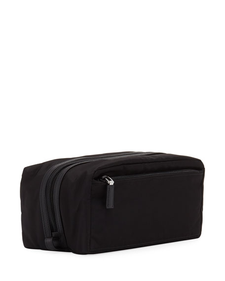 Nylon Toiletry Kit, Black