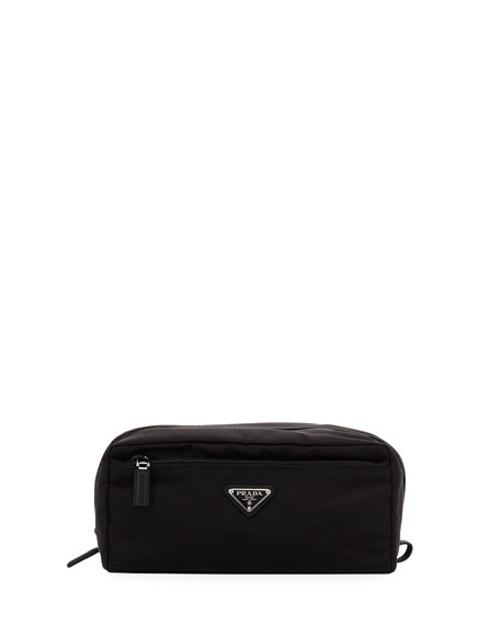 Prada Nylon Toiletry Kit, Black