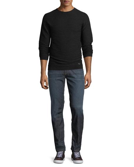 Mid-Wash Five-Pocket Jeans