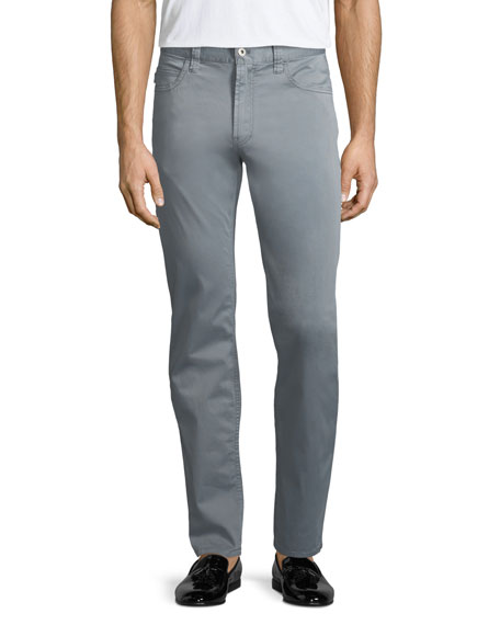 Emporio Armani Basic 5-Pocket Slim-Straight Sateen Pants