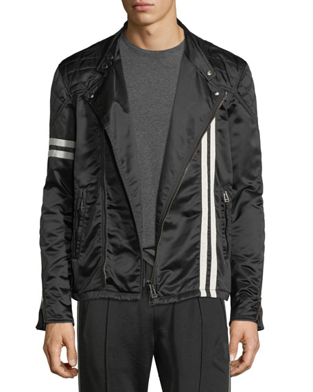 Belstaff Striped Satin Racer Jacket