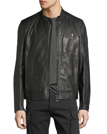 Belstaff Leather Racer Jacket