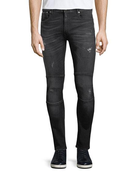 Belstaff Distressed Skinny Moto-Style Jeans