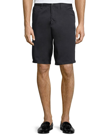 Stretch-Cotton Flat-Front Shorts