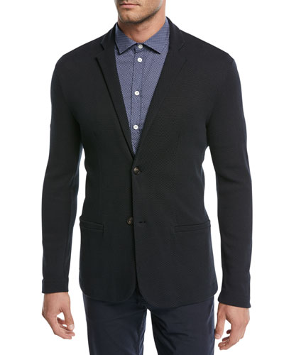 Textured Cotton Jersey Jacket