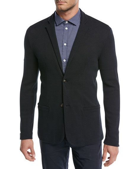 Textured Cotton Jersey Jacket