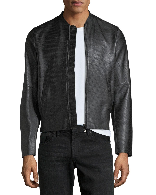 8a3e4c9ef Napa Leather Bomber Jacket