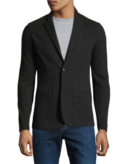 Emporio Armani Textured Jersey Two-Button Jacket