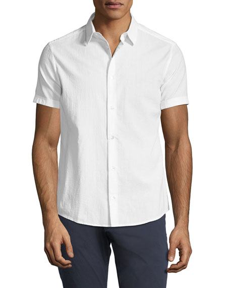 Emporio Armani Seersucker Short-Sleeve Sport Shirt
