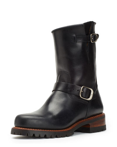 Addison Water-Resistant Lugged Engineer Boot, Black