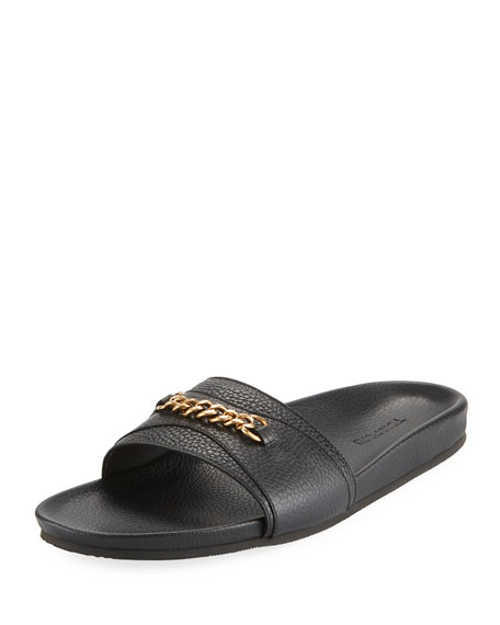 Tom Ford Slide sandals with chain detail 4wYMi4e3ce